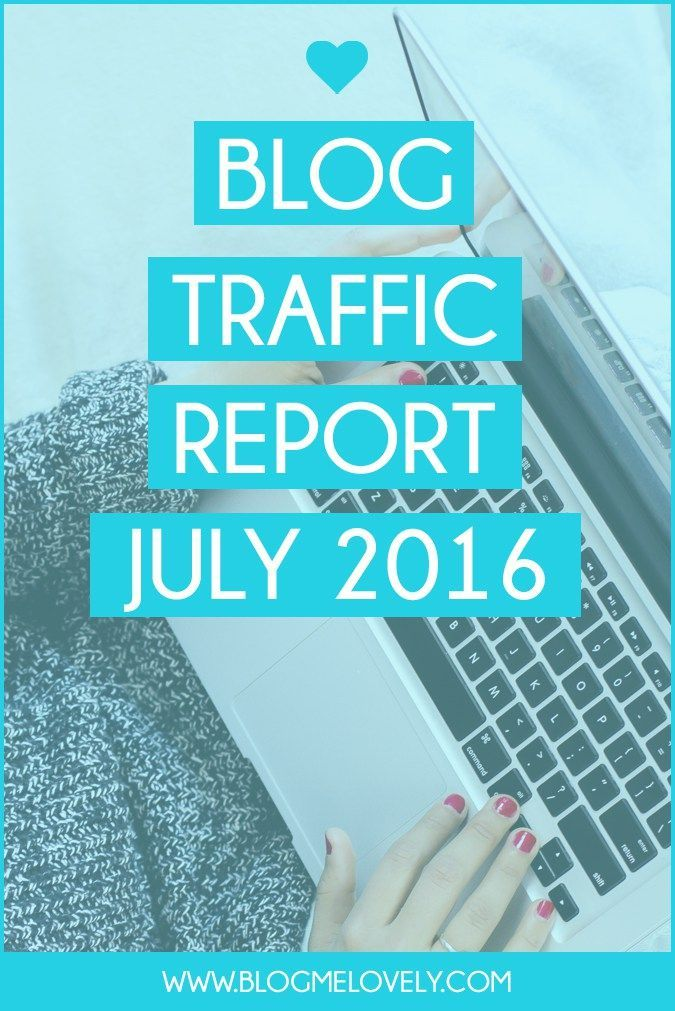 Blog Traffic Report July 2016 // Curious how my traffic was for July? I am sharing my traffic report, what I learned and goals for August.