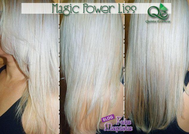 Para cabelos sedosos e com brilho espetacular, eu recomendo o Magic Power Liss.