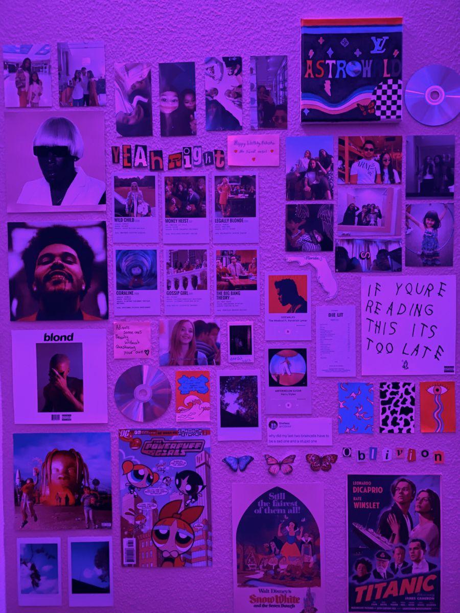 Indie Aesthetic Wall Vsco Wall Tik Tok Room Aesthetic Bedroom Indie Room Decor Neon Room
