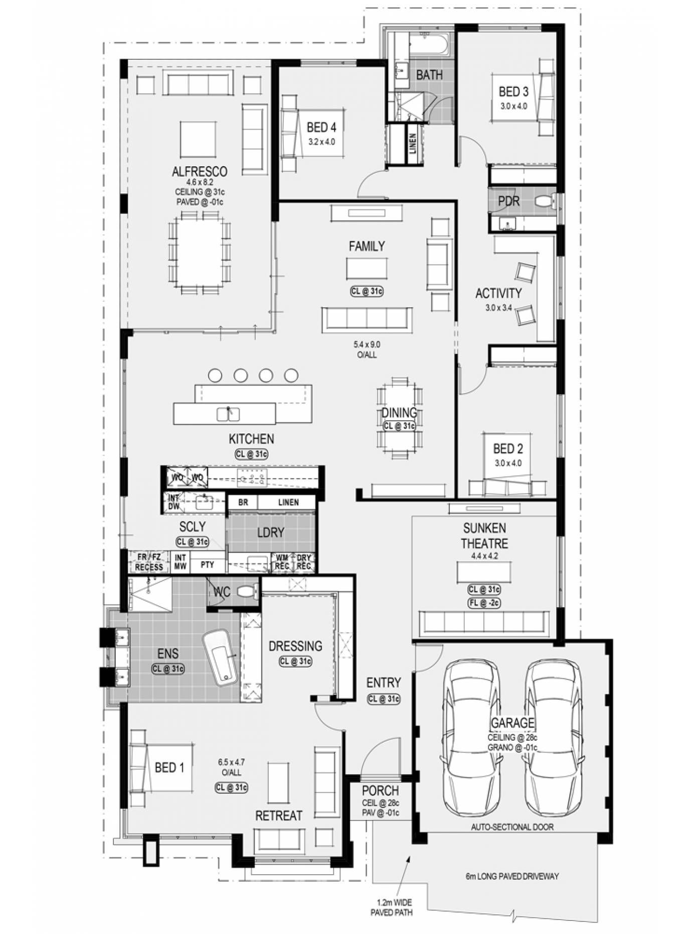 The Torquay Platinum By Home Group Wa Dream House Plans Home Design Floor Plans New House Plans