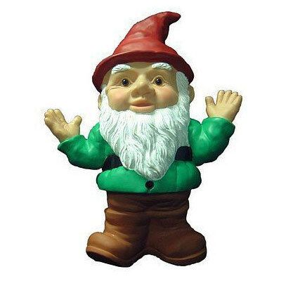 This garden gnome is similar to the one Suzi Cho uses as a foyer