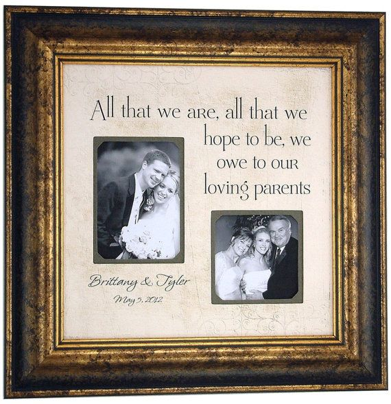 Gifts For Parents Wedding Thank You: Parents Thank You Gift, Personalized Photo Picture Frame