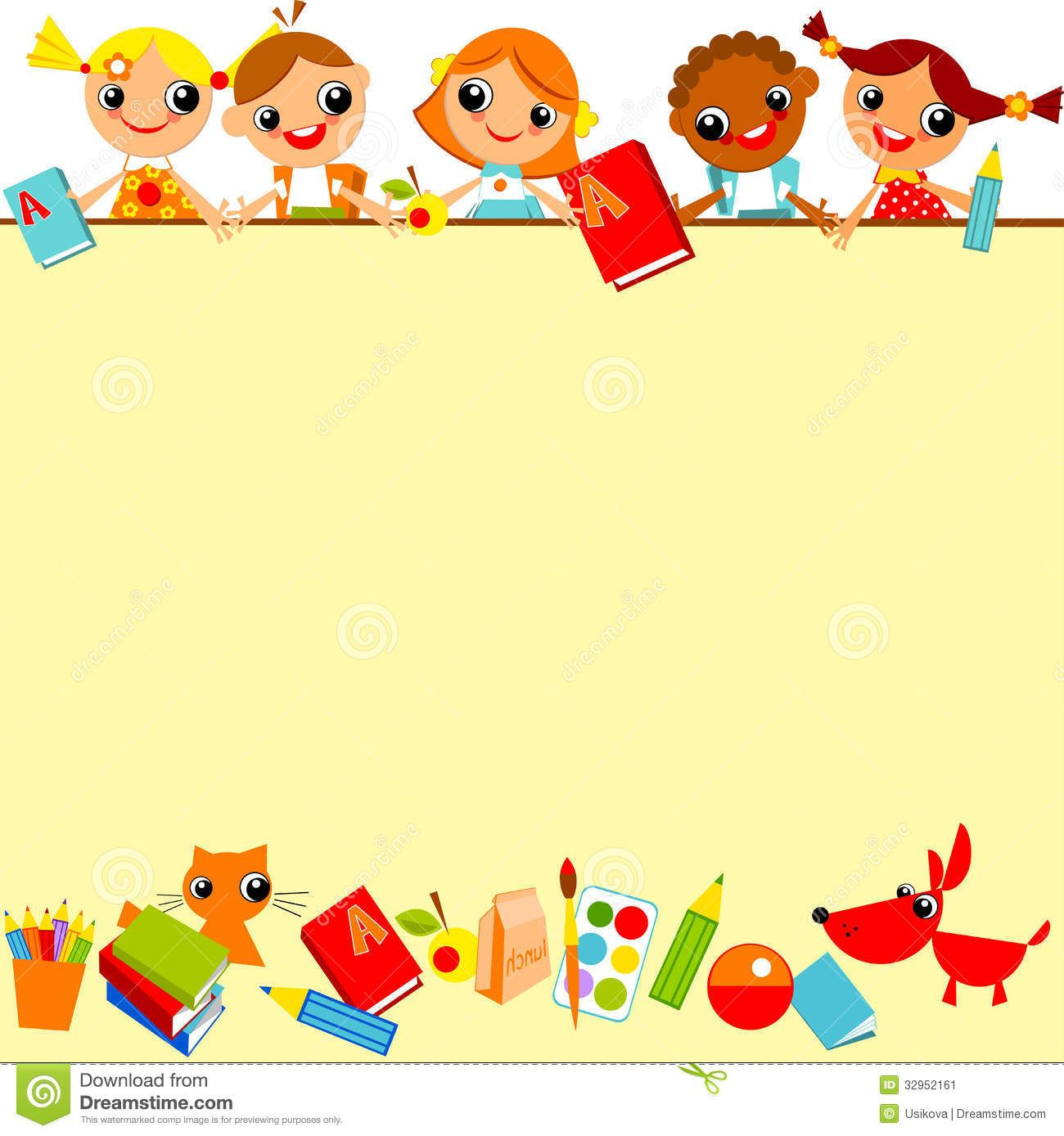 School Childrens Background Stock Vector Image 32952161 Fundo