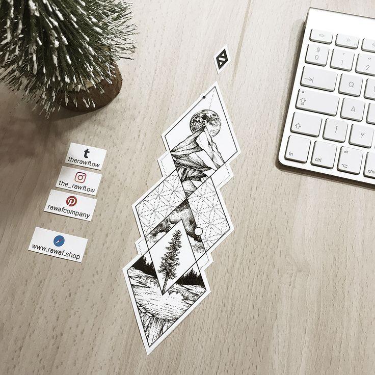 Dotwork Natur Baum Mandala Tattoo Design mehr Designs (jetzt mit temporären Tattoos