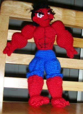 Rulk *Red Hulk amigurumi