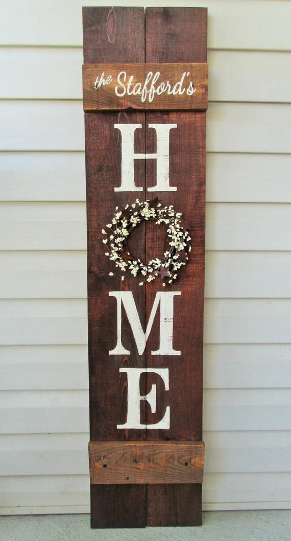 Welcome Porch Sign 5' Rustic Hand Painted Wood Reversible Option Two Signs in One #woodcrafts