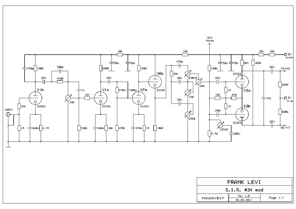 Plexi Sl 18watt Schemnatic Electr Plexus Products Electronics