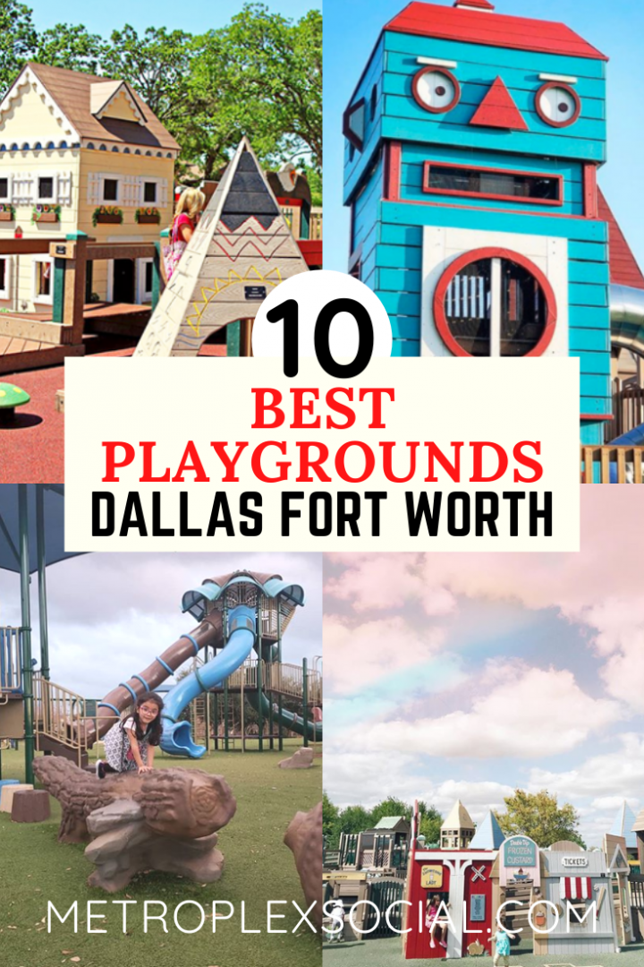 BEST Playgrounds in DFW to Take Your Kids - Metroplex Social in 2020    Places to take toddlers, Playground, Visit dallas