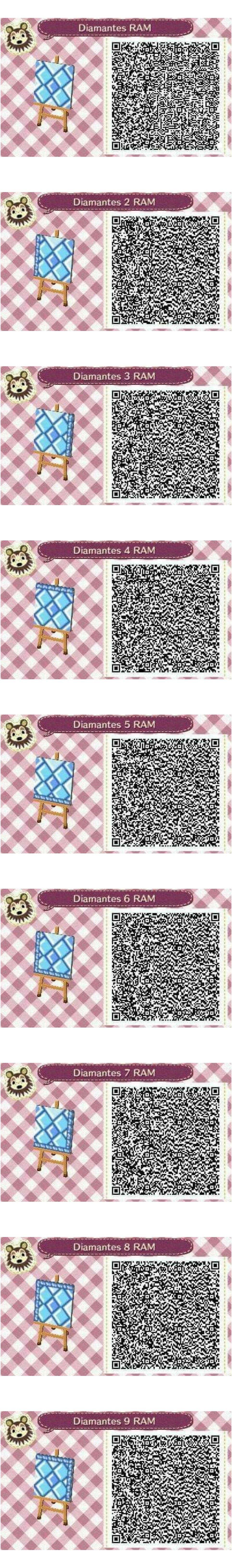 Este es un QR Code para Animal Crossing creado por mí misma. Como podéis observar son una serie