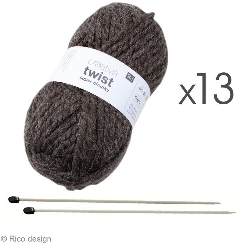 1. Tricoter un poncho femme : le matériel