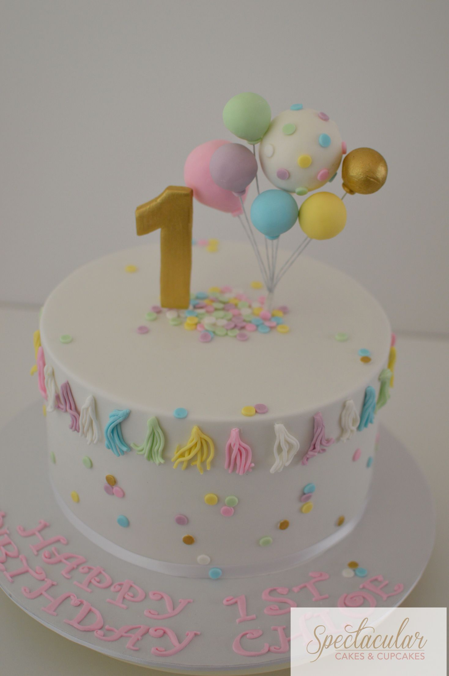 Simple First Birthday Cake Decorating Ideas