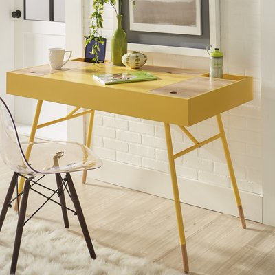 Mercury Row Chiesa Solid Wood Desk Furniture Solid Wood Desk