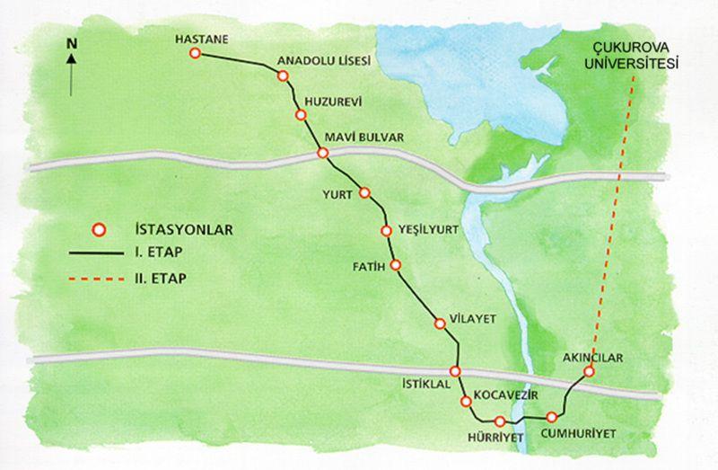 Metro Of Adana Subway Map Metro Map Adana