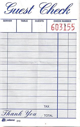 Blank Guest Check Stock Photos - Image: 36740223 |Restaurant Receipt Clipart