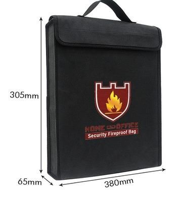 Fireproof Storage Bag for Important Documents, Valuables, and Money