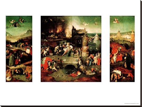 Flemish Gothic artist Hieronymus Bosch's (1450 – 1516) brilliant nightmarish work graphically explores and exposes the human mind's darkest fears. Unlike other artists of that period who portrayed serenity and reality, Bosch's paintings are filled with chilling symbolism and frightening imagery. With masterful use of color and detail, Bosch's haunting works, collected by King Phillip II of Spain, foreshadowed Surrealism, and still impact artists today.
