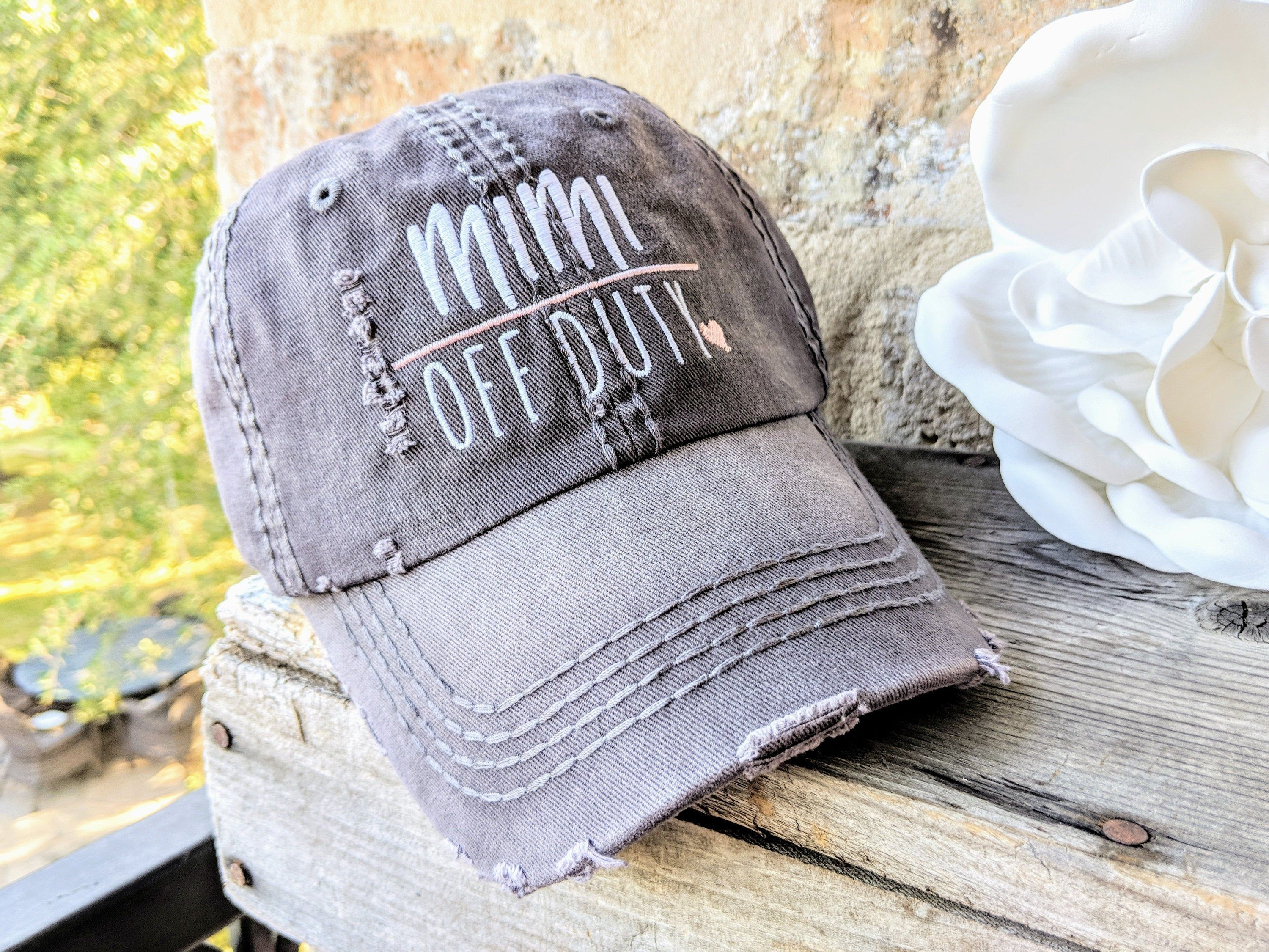 Embroidered Womens Hat Gift For Nana Nana Hat Distressed Baseball Cap OR Ponytail Hat