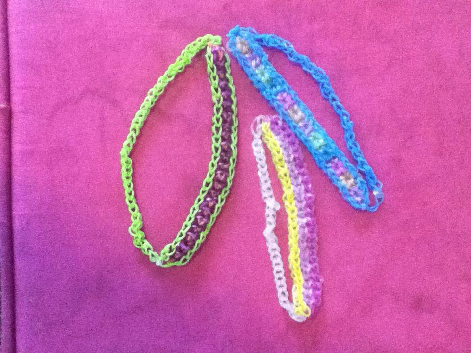Rainbow loom headbands!!:)