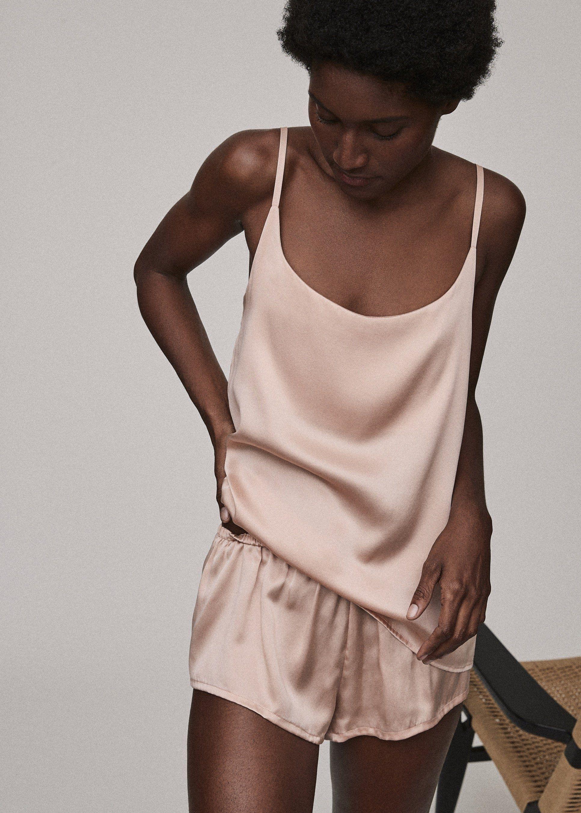 Pajama Top Organic Lingerie Linen Top Cami Top Linen Cami