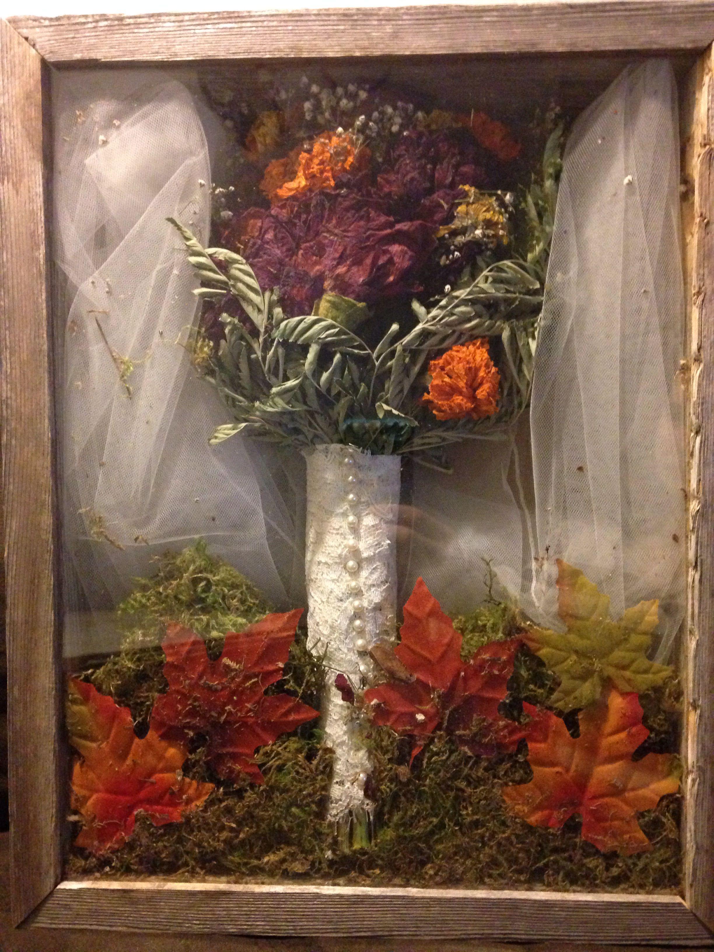 Wedding bouquet shadow box | LOVE it | Bouquet shadow box ...