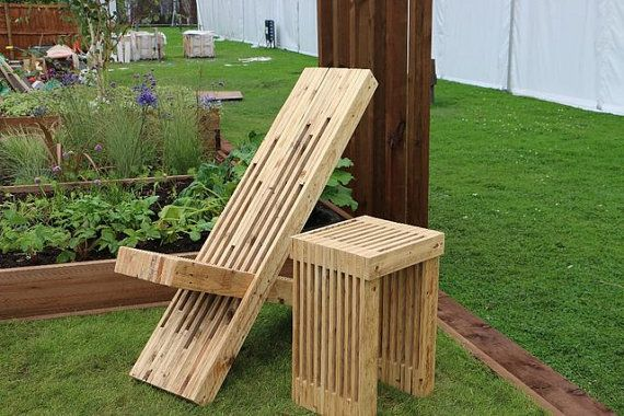 Super Sculptural Garden Patio Chair Made From Reclaimed Pallet Ocoug Best Dining Table And Chair Ideas Images Ocougorg