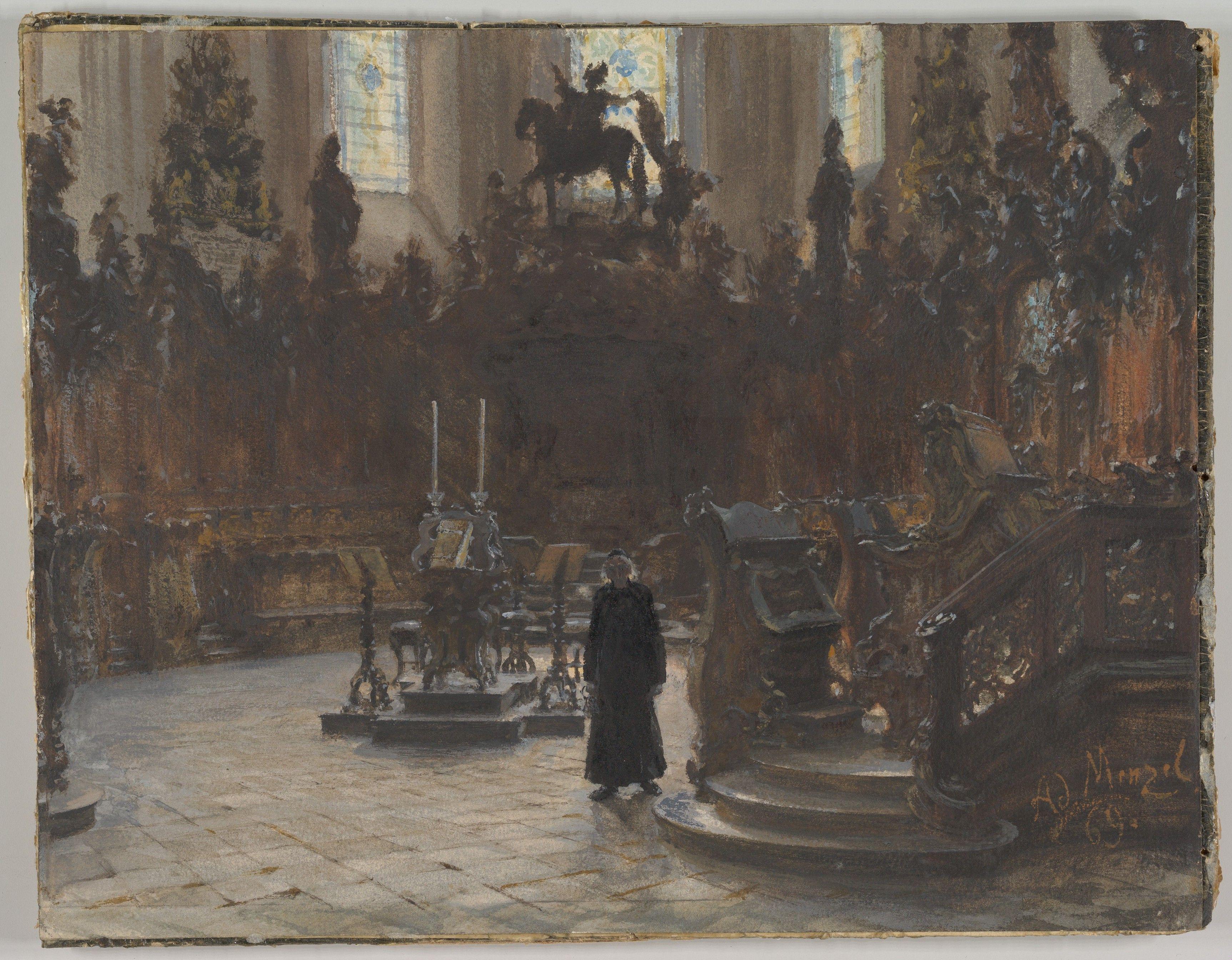 Adolph Menzel The Choirstalls In The Mainz Cathedral 1869 In 2020 Literature Art Art Sculpture Art