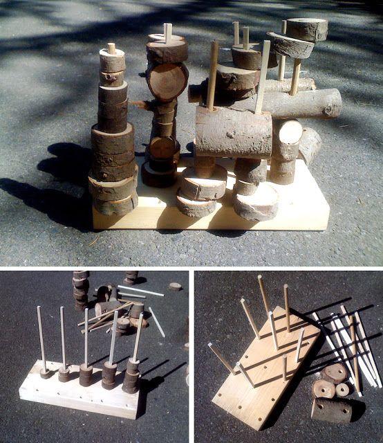 Natural peg / stacking toy