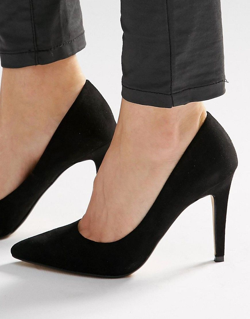 3049acee31a5 Image 1 of Head Over Heels By Dune Addyson Black Heeled Pumps ...