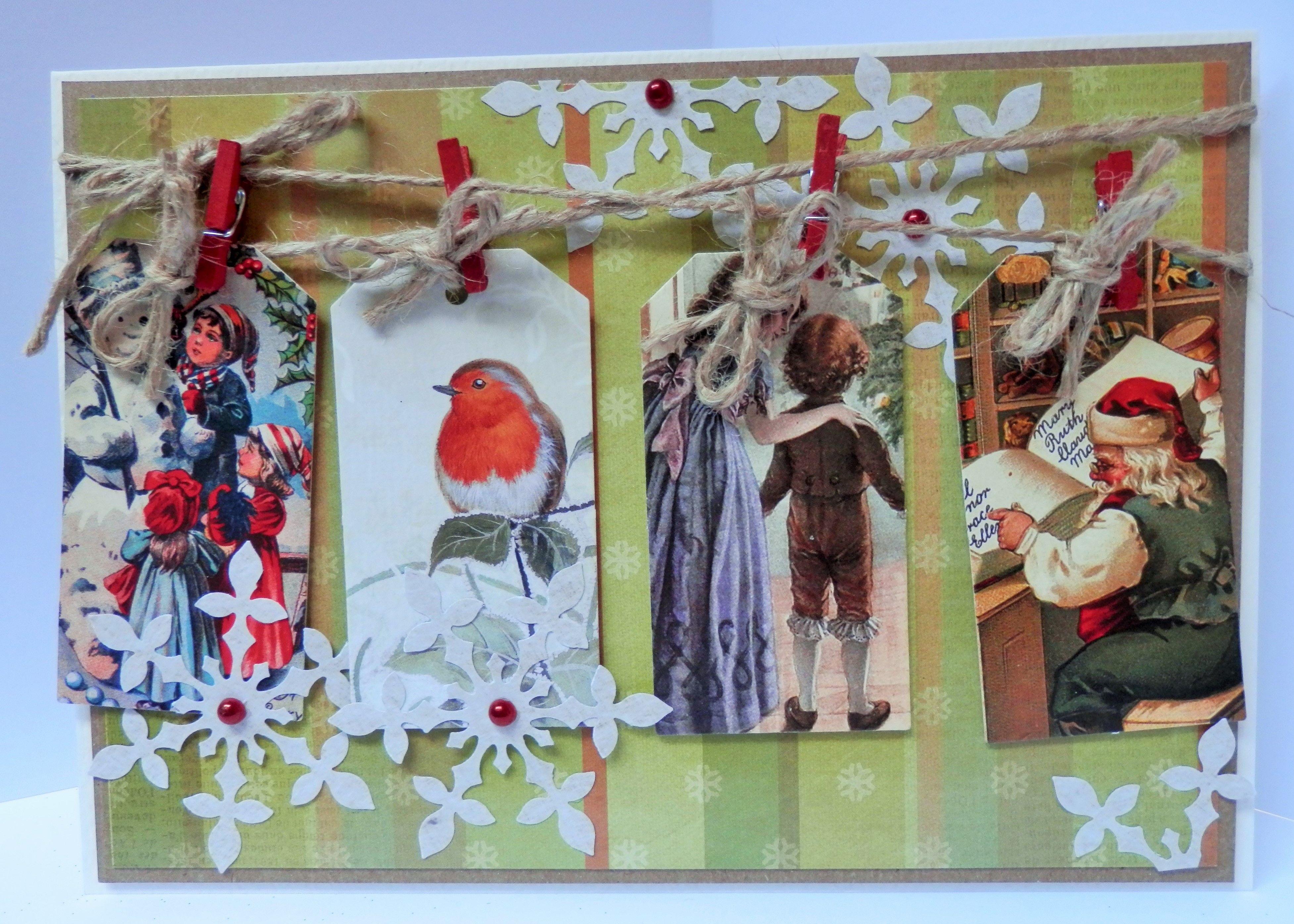 Inspiration using the Kanban Vintage Christmas Paper Craft ...