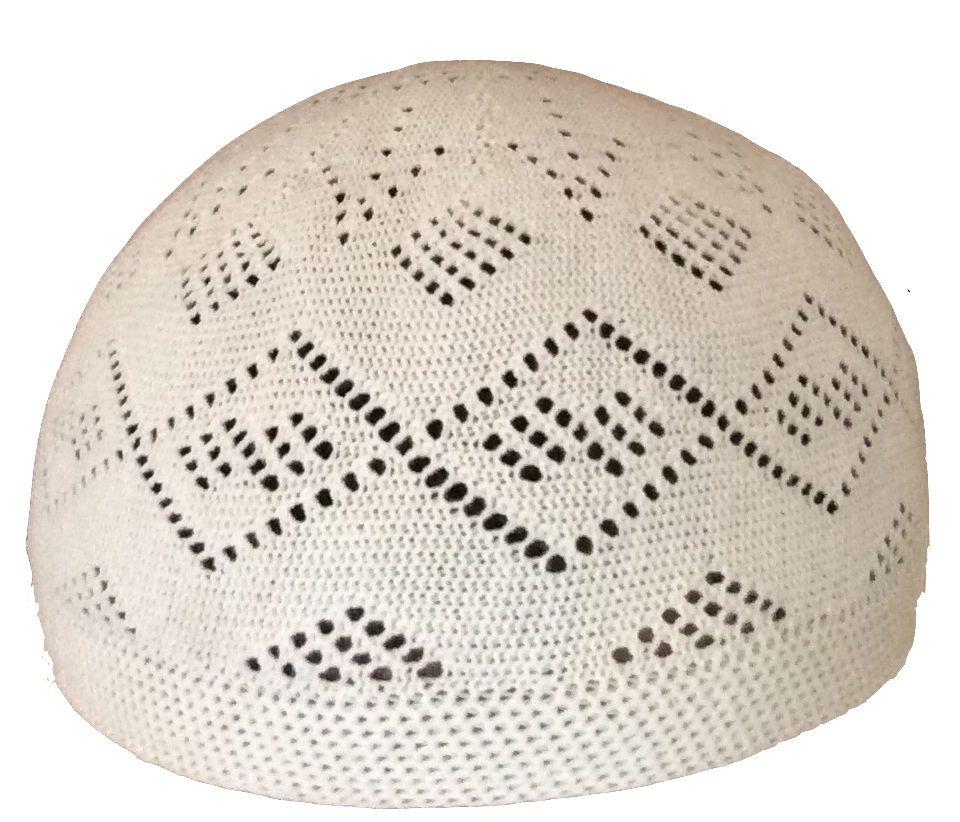 100% Cotton Kufi koofi kofi Topi Embroidery Cap Hat Muslim Crochet L ...