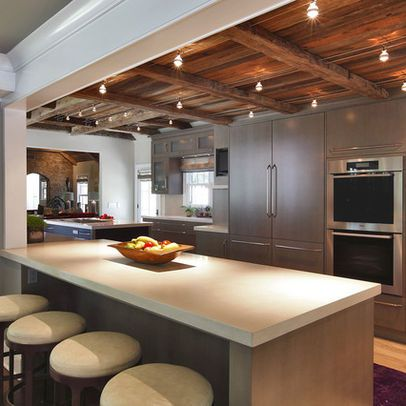 Wood Beam Track Lighting Design Ideas, lightolier or tek lighting ...