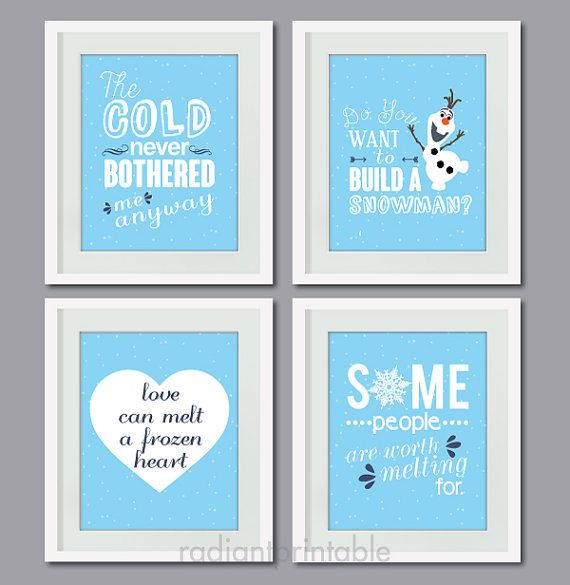 Excellent Disnye Frozen Quote Quote Printable Art Typography Print 8 Personalised Birthday Cards Paralily Jamesorg