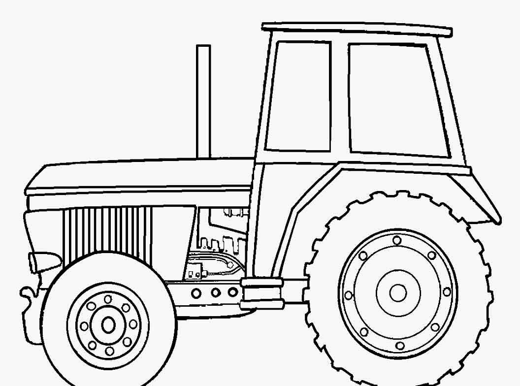 John Deere Traktor zum Ausmalen e1529708340206