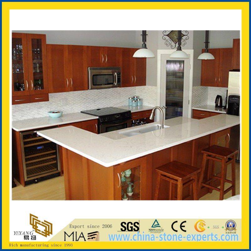 Pure White Artificial Quartz Stone Countertop For Kitchen And Bathroom With  SGS   Buy Kitchen Quartz Countertop, Stone Quartz Countertop, White Stone  Quartz ...