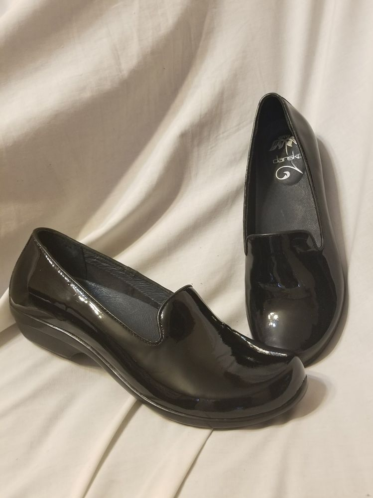 80f4a204a95 Dansko women s shoes sz 38 EUR 7.5-8 US Olivia loafer black patent leather