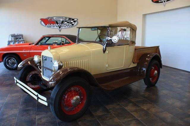 1927 Ford Model T Pickup Truck With Wooden Box And V8 Style Wire