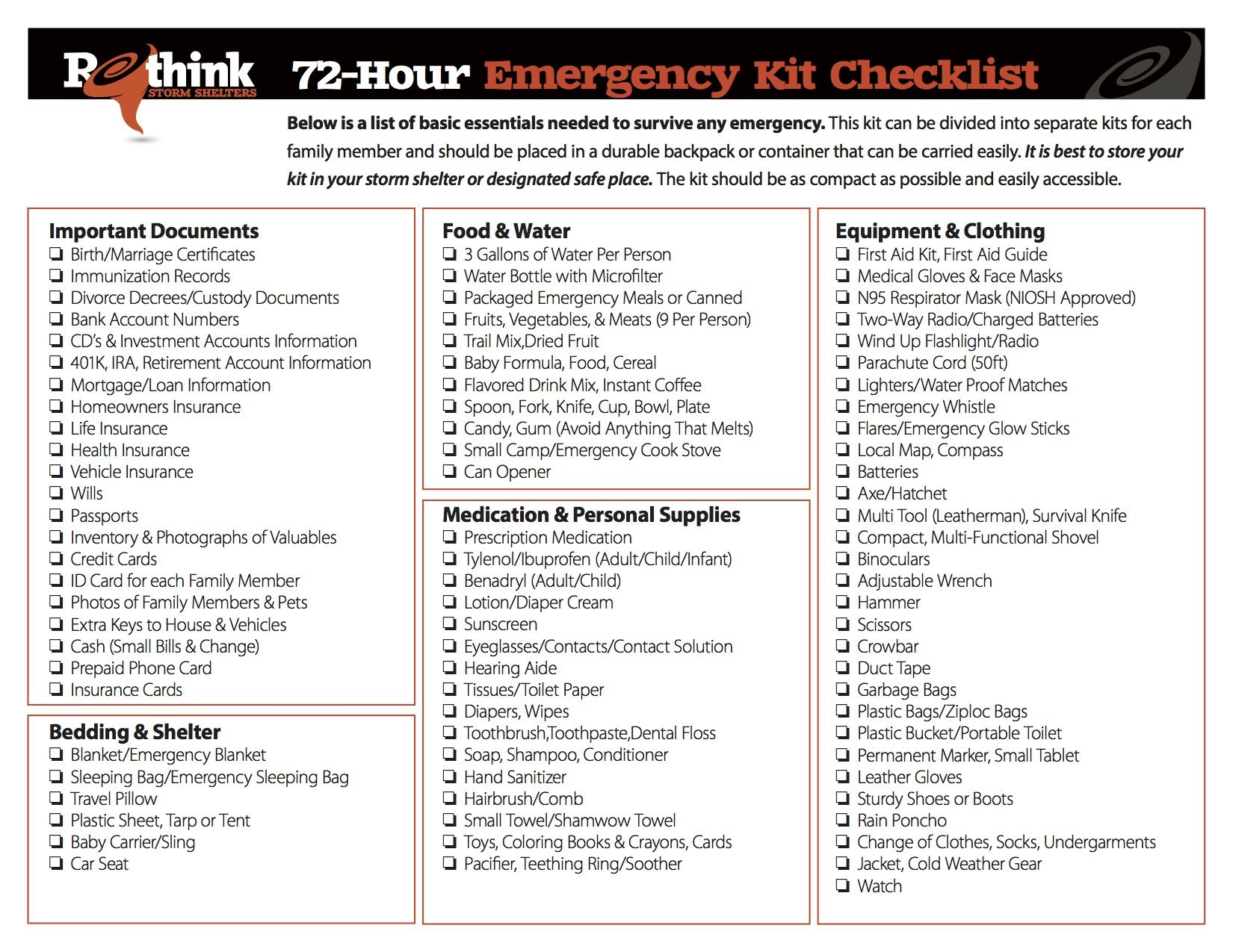 Tips on how to plan for a natural disaster emergency for List of natural items