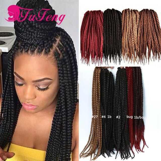 Crochet Braids Box Braids 18 20 Inch Senegalese Crochet Twist Hair Synthetic Crochet Brai Crochet Braids Hairstyles Braid In Hair Extensions Braided Hairstyles