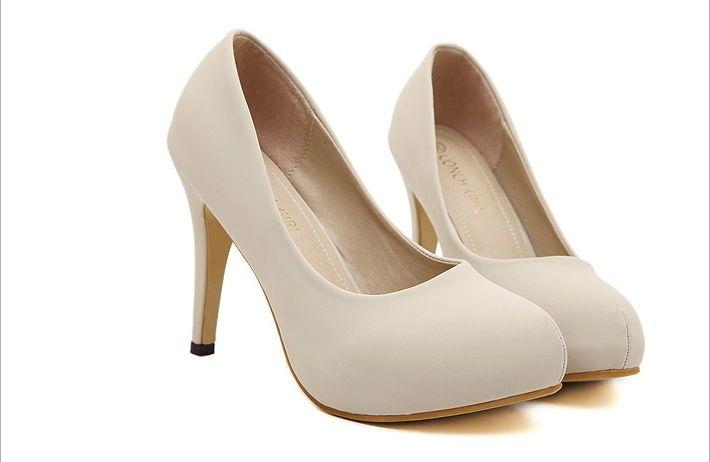 Low Heel Wedding Shoes Platform Pumps Y Women Fashion Leather Elegant Conch Pumpselegant Partyweddingoffice