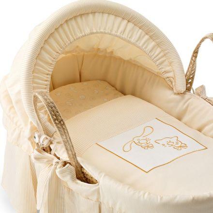 Luxus Babykorb 'Zizzi & Koko' in 3 Farben erhältlich