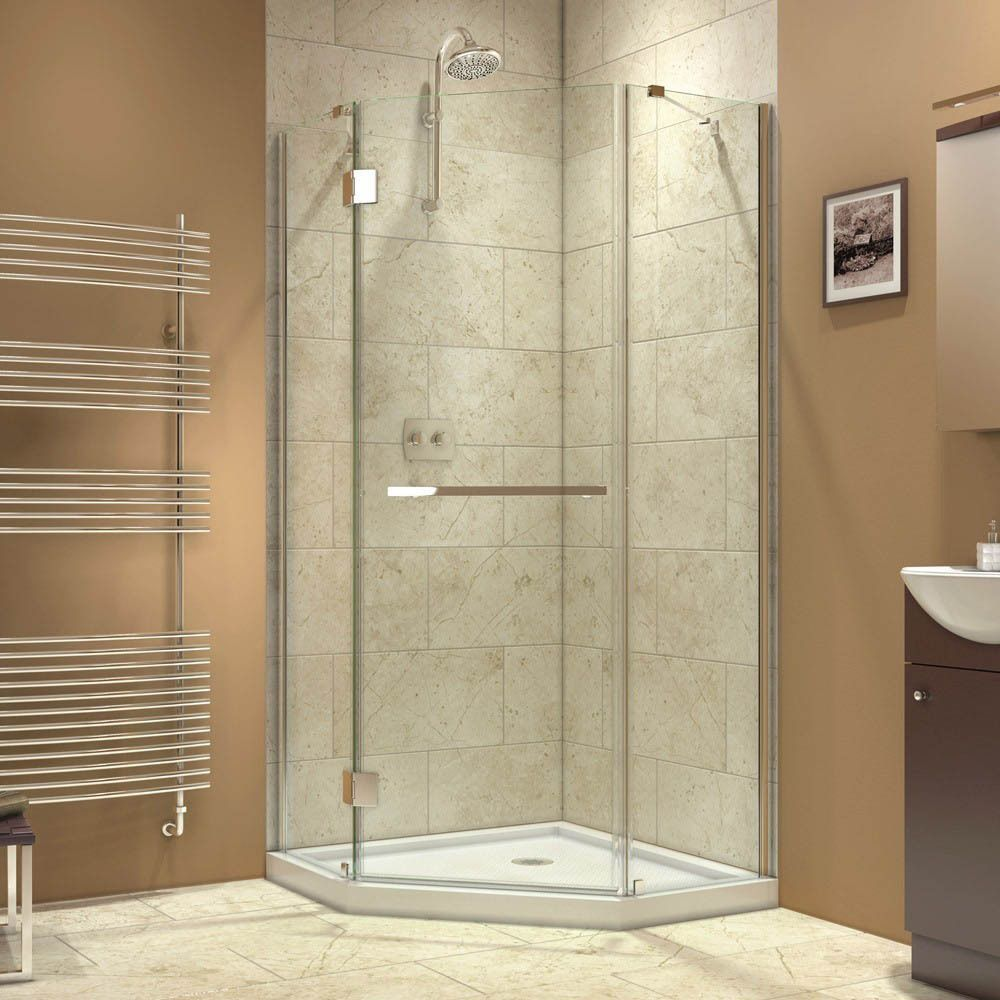 Dreamline Prism X 34 375 X 34 375 Inch Frameless Hinged Shower