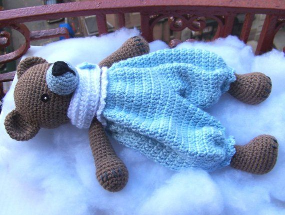 Crochet Bear Pattern-Crochet Rag Doll Bear Pattern-Amigurumi Bear-DIY Crochet Toy-Stuffed Toy Animal Tutorial-Snuggly Bear Crochet Pattern