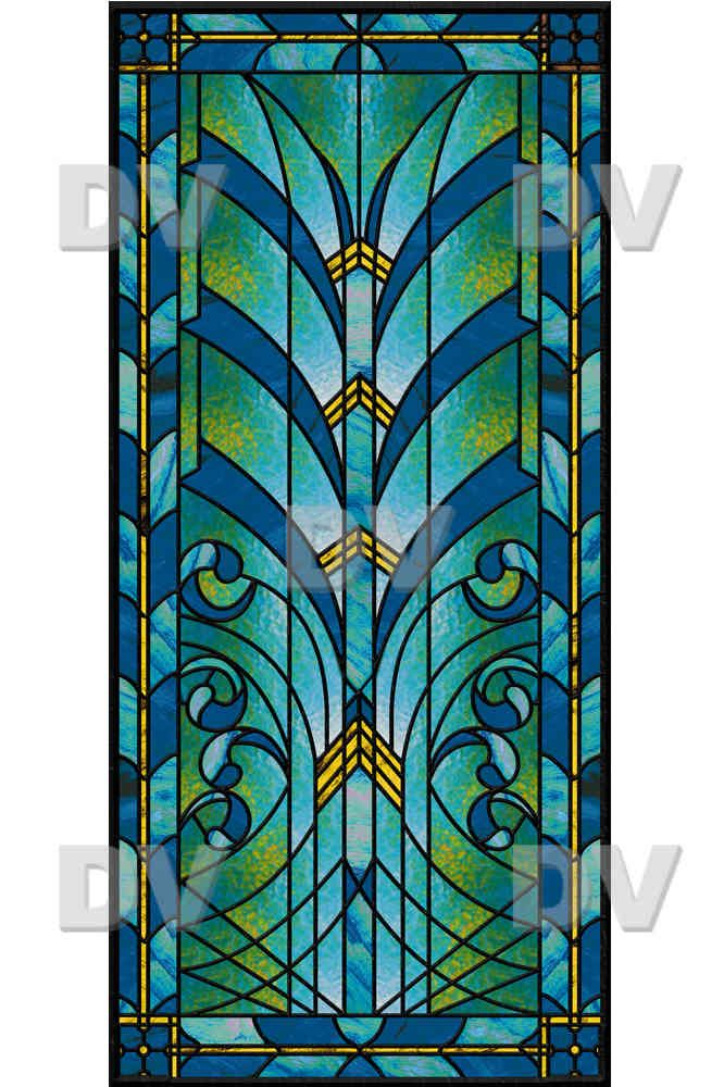Vit192 stained glass sticker art deco