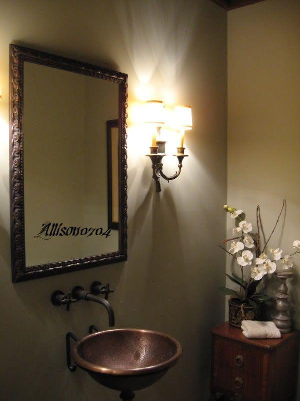 Bathroom Design No Window small powder room - no window - svelte sage? - home decorating