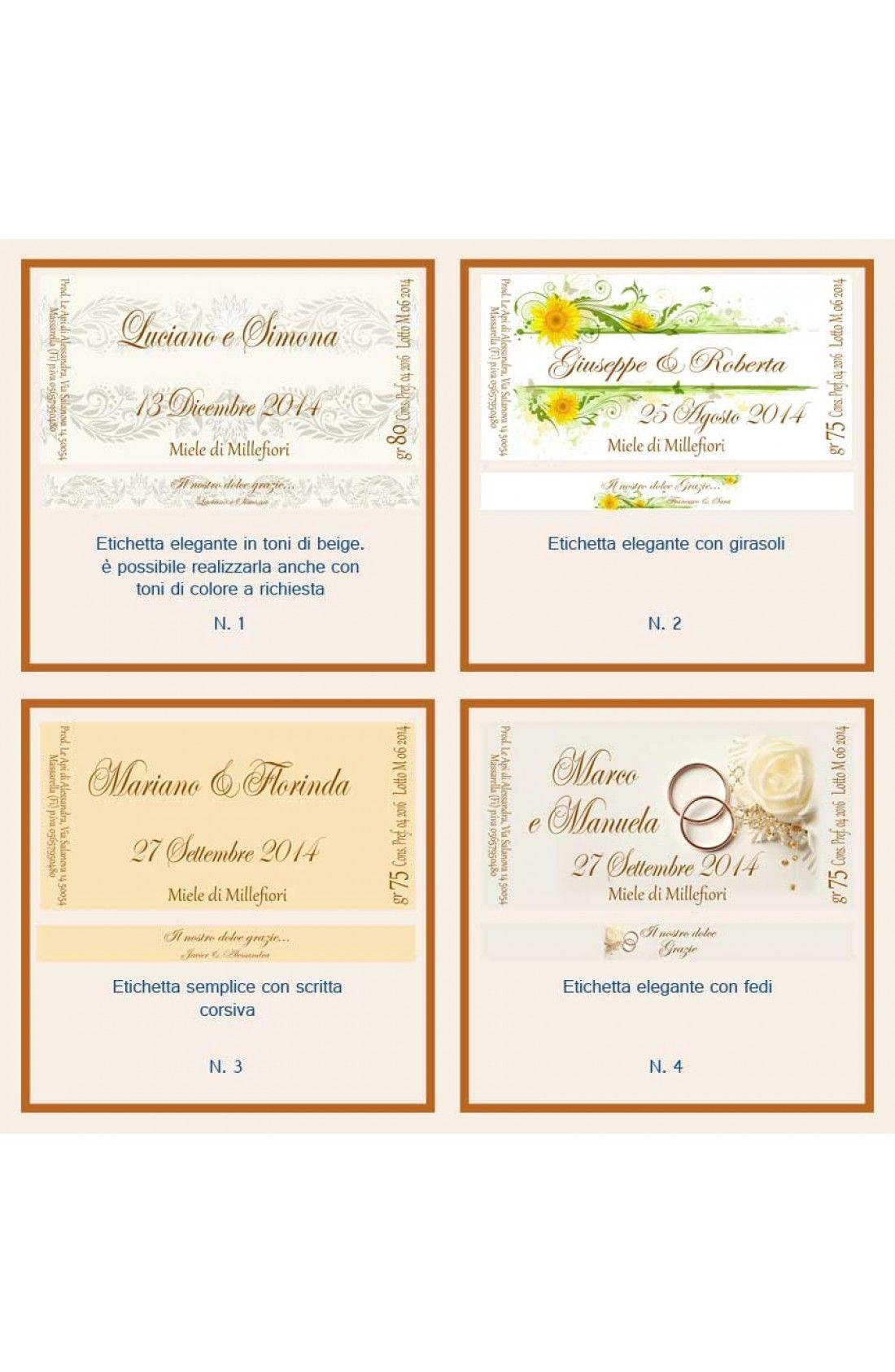 Anniversario Di Matrimonio Al Lotto.Bomboniera O Segnaposto Per Anniversario Di Nozze Vasetto Miele