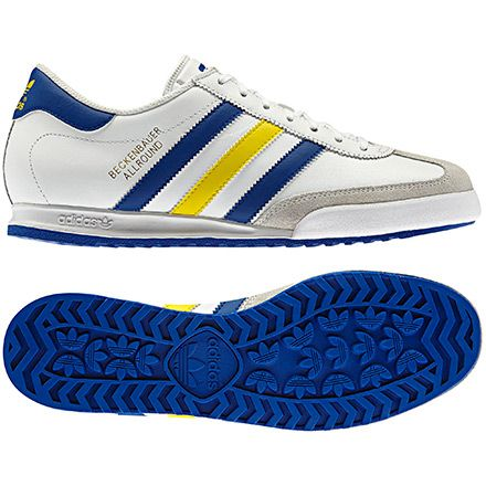 Men S Beckenbauer Shoes Running White Vivid Yellow True Blue