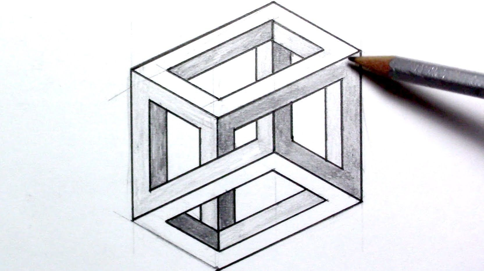 3d Illusion Drawing Easy How To Draw An Optical Illusion Escher