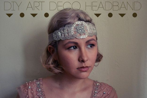 Three glamorous diy gatsby inspired headbands folles - Coiffure annee folle ...