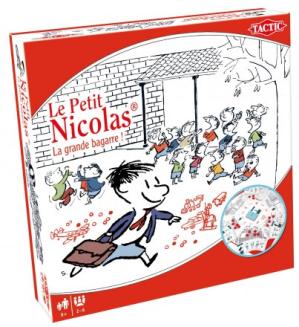 Un jeu de société sympathique : Le Petit Nicolas, La grande bagarre, chez Tactic. Dès 8 ans.