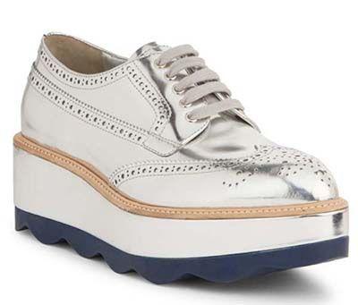 b0677f30407e Silver prada shoes